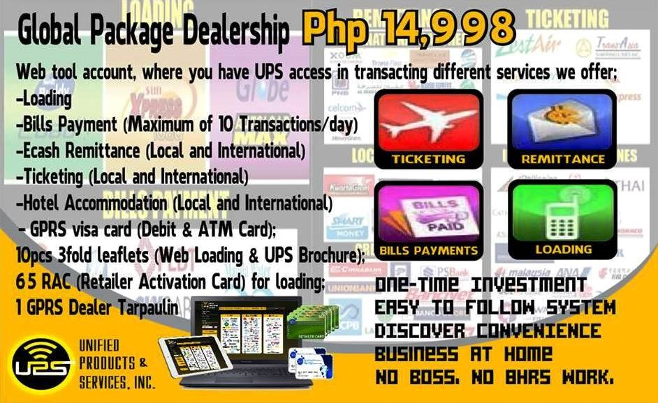 gprs global dealer negosyo package unified products and services